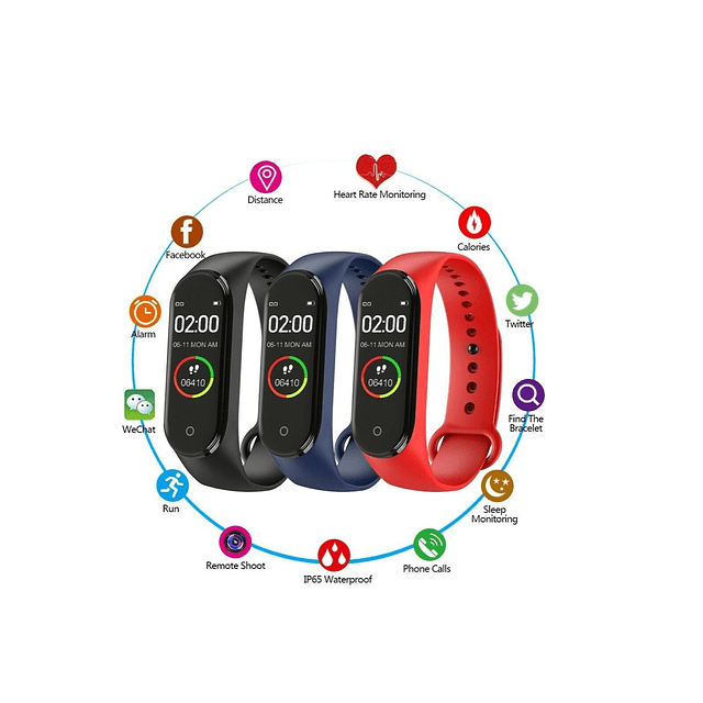 Reloj Inteligente Mide Ritmo Cardiaco, cuenta Pasos
