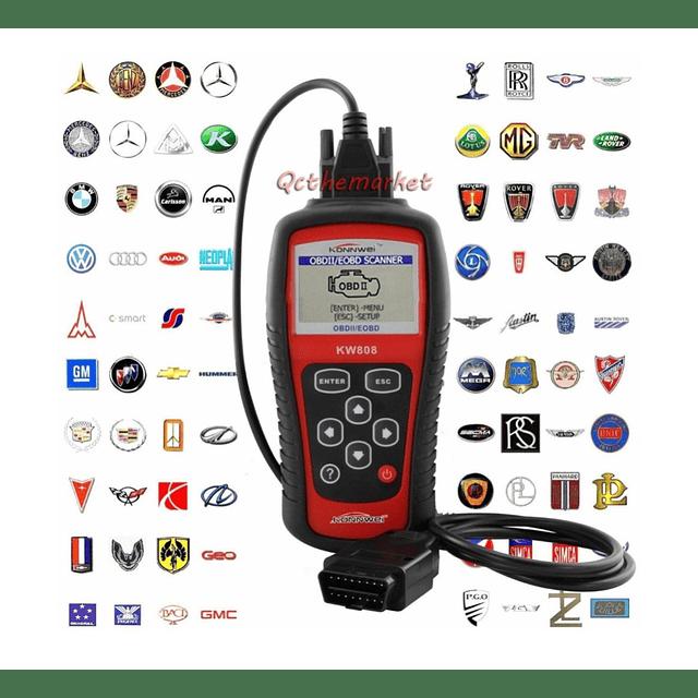 Escaner Automotriz Konnwei Kw808 Obd2 / Eobd Multimarcas