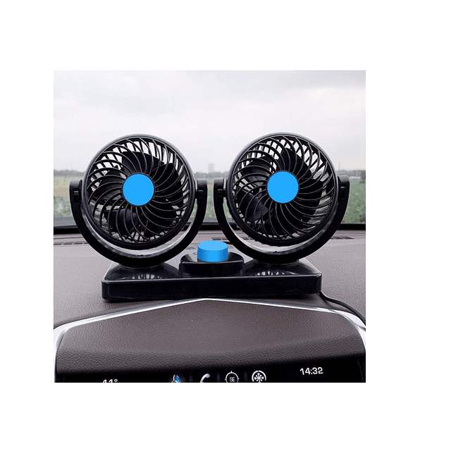 Ventilador Automovil Doble 12v