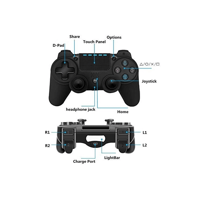 Control Ps4 Inalambrico Dualshock Generico AZUL