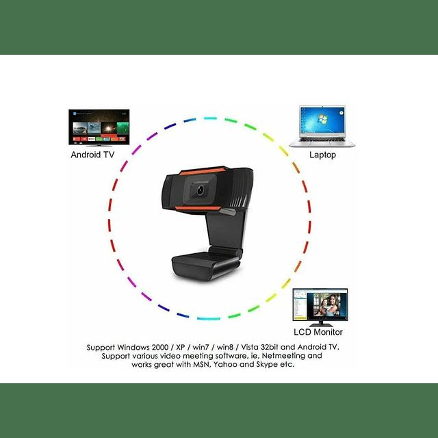 Camara Web Hd 720p Usb Con Micrófono Autoinstalable
