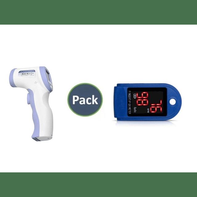 Oximetro Pulsometro Saturometro + Termometro Digital