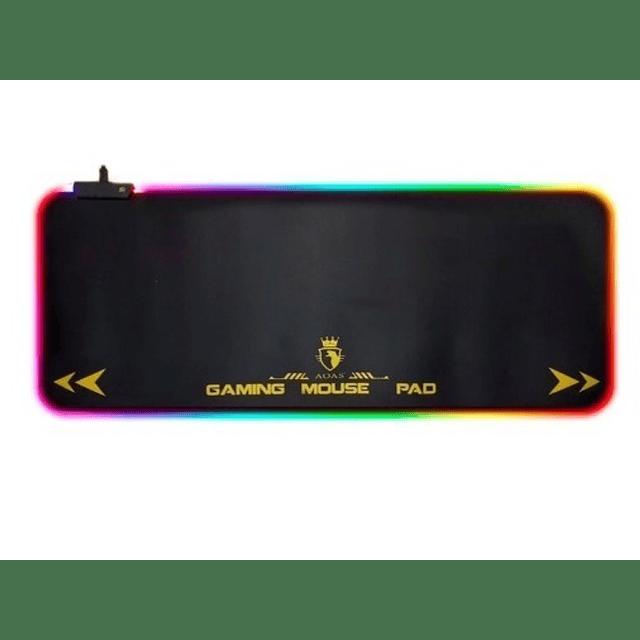 Mouse Pad Gamer Rgb Led Colores Xxl S4000 80x30cm 4mm Usb