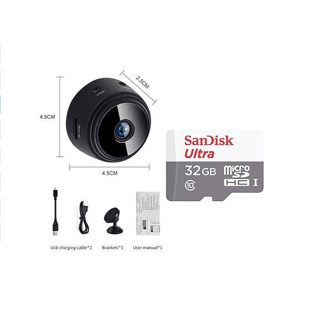 Camara Espia Full Hd + Tarjeta Memoria 32 Gb
