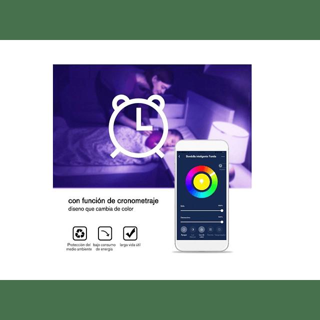 Ampolleta Inteligente Wifi Rgb 10w 806lm Alexa Y Google
