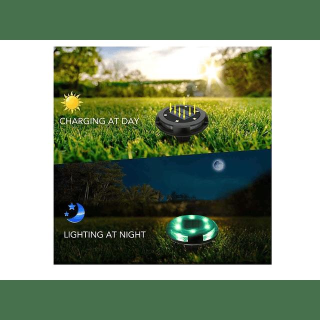 Luz Multicolor Solar Ideal Para Jardin / Somos Ventasmacul