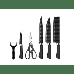 Cuchillos De Cocina Anti Adherentes + Pelador Y Tijeras