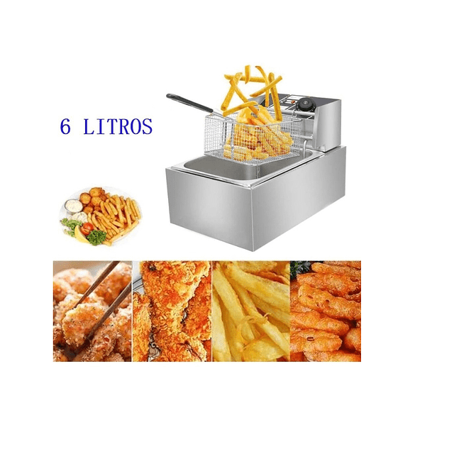 Freidora Eléctrica Papas Fritas,pollo,etc. Uso Doméstico.