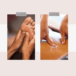 Masaje y Reflexologia Pack X4