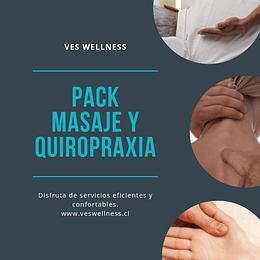 Pack Masaje 4x90 + Sesión Quiropraxia