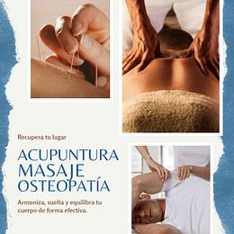 Pack Acupuntura, masaje y Osteopatía
