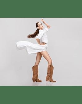 Blusón-Vestido Lino Blanco
