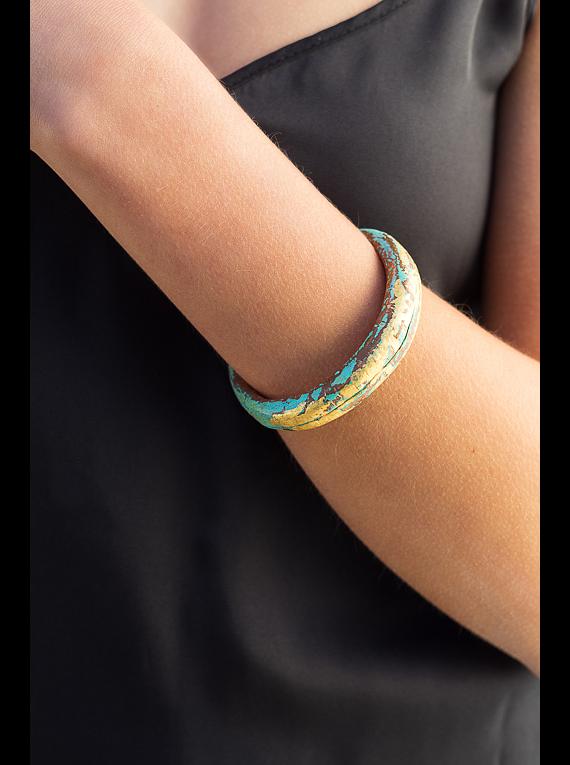 Gold Anticlastic Bracelet