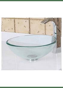 Bowl Cristal Lavatorio Transparente Sobreponer 41.5 cm