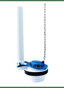 Válvula de Descarga Para WC con Flapper y Cadena Metálica