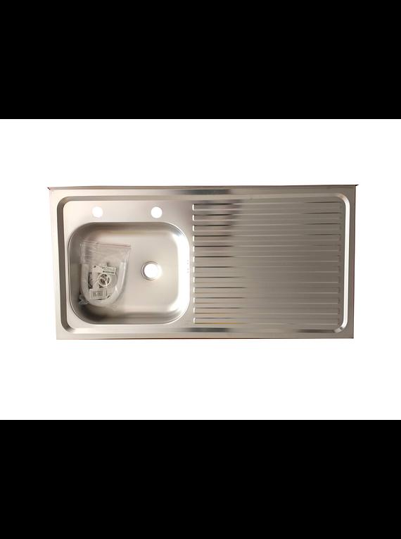 Lavaplatos Simple Sobreponer 100x50 Inoxidable Derecho Combinacion