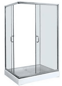 Shower Door Y Receptaculo Rectangular 80x120x195 Derecho