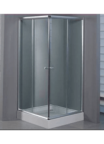Shower Door Y Receptaculo Cuadrado 90x90x195 Transparente