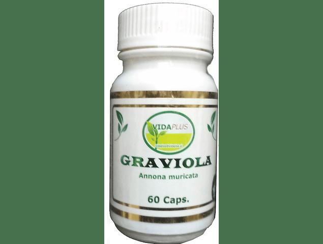 GRAVIOLA PLUS 4 FRASCOS DE 60 CAPSULAS DE 450 MG .  DESPACHO GRATIS