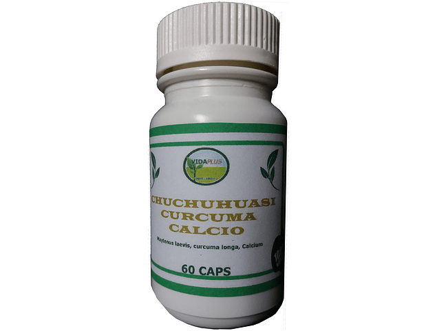 CHUCHUHUASI + CURCUMA + CALCIO 3 FRASCOS DE 60 CAPSULAS DE 480 mg