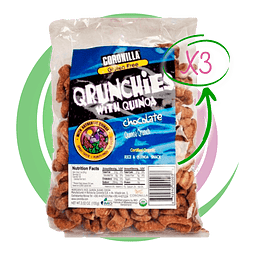 Pack 3 Qrunchies Chocolate