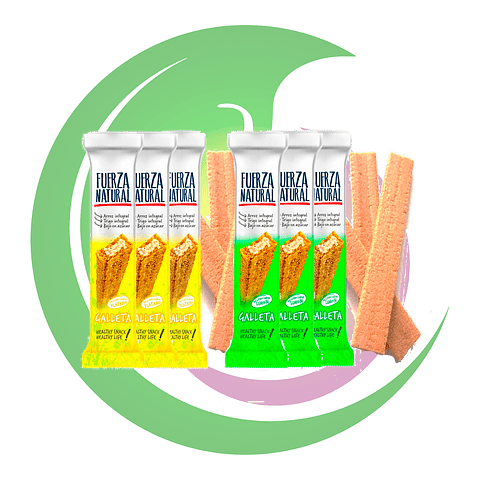 Pack 6 Obleas Fuerza Natural Sabores 13 grs