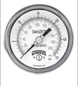 """MANOMETRO WINTERS PFP-ZR STABILIZR 4"""" X 1/2"""" NPT POST FULL INOX ARO BAYONETA"""