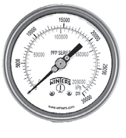 VACUOMETRO WINTERS SERIE PFP 100MM FULL INOX -30