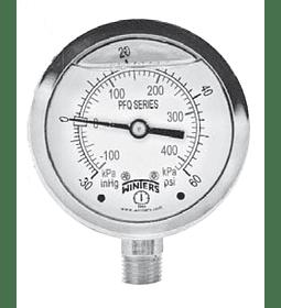 MANOMETRO WINTERS FULL INOXIDABLE 40mm SERIE LF ABAJO 1/8NPT AC INOX 304