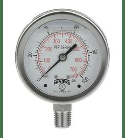 MANOMETRO WINTERS FULL INOXIDABLE 63mm SERIE LF 0 A 15 PSI_ ABAJO 1/4NPT