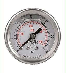 MANOMETRO WINTERS FULL INOXIDABLE 40mm SERIE LF ATRAS 1/8NPT AC INOX 304