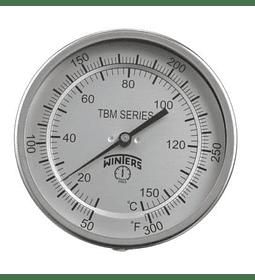 TERMOMETRO WINTERS BIMETALICO, -5 A 115ºC, DIAL 4
