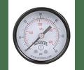 "VACUOMETRO WINTERS PEM 1.5"" 30""HG / BAR-0 1/8"" NPT POST CAJA ACERO PINTADA DE NEGRA"