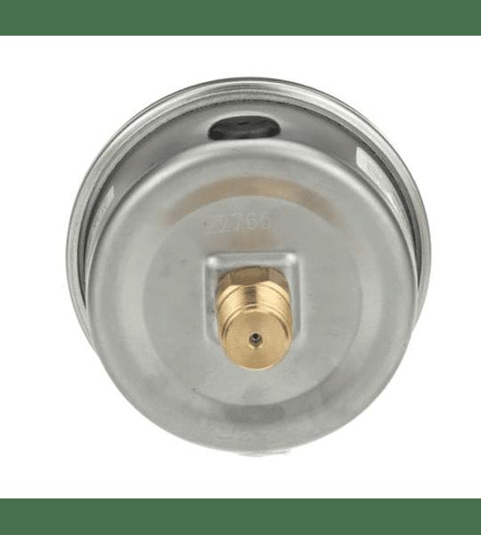 VACUOMETRO WINTERS PFQ 2,5'' X 1/4NPT POST -30''HG/ BAR-0 C/GLIC. INOX BRONCE