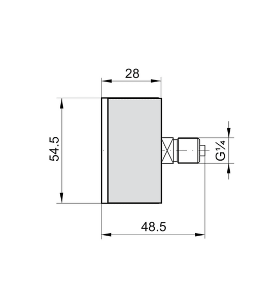 MANOMETRO BAUMER ACERO BRONCE 63mm 1/4NPT CONEXION ATRAS