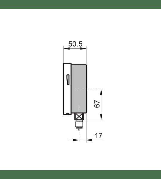MANOMETRO BAUMER 0 A 1000KPAG (0 A 160PSI), TIPO BOURDON, DIAMETRO 4'' 1/2NPT ABAJO C/GLICERINA