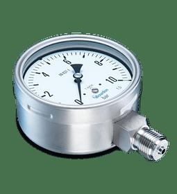 VACUOMETRO BAUMER FULL INOXIDABLE 100MM RANGO -30HG A 0PSI 1/2NPT