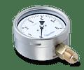 MANOVACUOMETRO BAUMER CONEXION TRASERA 100MM 1/2NPT -30HG a 60PSI / -1 A 3BAR