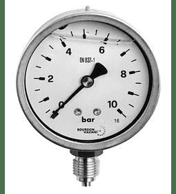 MANOMETRO BAUMER CAJA ABS 63MM 1/4NPT 0 A 10BAR / 0 A 160PSI GLICERINA