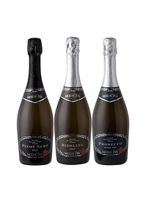 Pack 3 Espumantes Italianos (1 Prosecco, 1 Pinot, 1 Riesling)