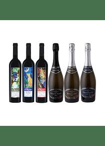 Pack 6 Botellas Coleccion (1 Silvestre, 1 Lobo, 1 Zorrito, 1 Prosecco, 1 Pinot, 1 Riesling)