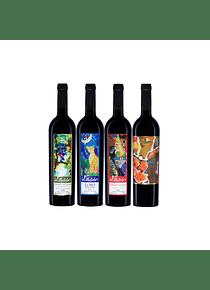Pack 4 Botellas Coleccion (1 Silvestre, 1 Lobo, 1 Zorrito, 1 Costino)