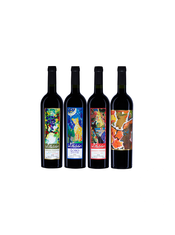 Pack 4 Botellas Colección (1 Silvestre, 1 Lobo, 1 Zorrito, 1 Costino)