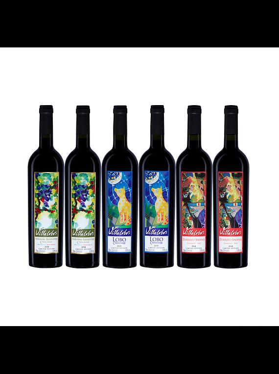 Pack 6 Botellas Coleccion (2 Bot. Silvestre, 2 Bot. Lobo, 2 Bot. Zorrito)