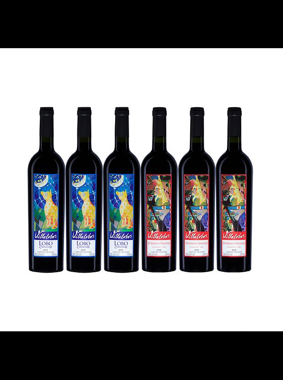 Pack 6 Botellas (3 Bot. Lobo, 3 Bot. Zorrito)