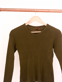 Ribbed top verde
