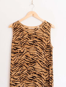 Maxi dress silk animalprint