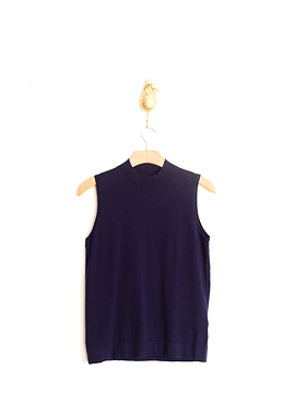 Top navy cuello alto
