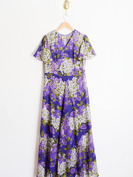 Maxi dress purple vintage