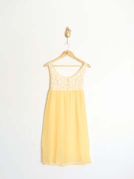 Slip dress amarillo 60's